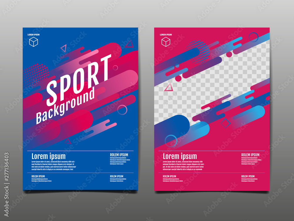 Fototapety, obrazy: Layout template Design, Sport Background, Dynamic Poster, Banner, Vector Illustration.