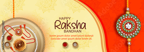Photo  Vector abstract for Raksha Bandhan with nice illustration in a creative backgrou