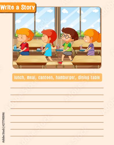 Poster Jeunes enfants A picture narrative worksheet