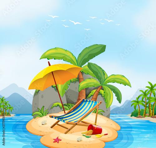 Poster Jeunes enfants A summer beach island