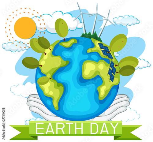 Poster Jeunes enfants Earth day concept poster