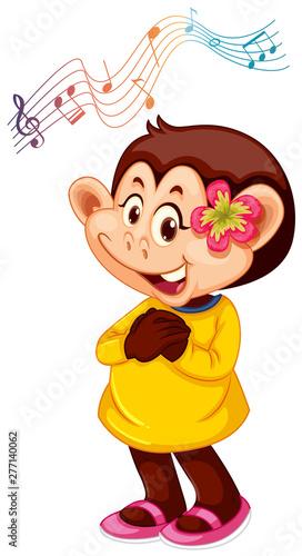 Poster Jeunes enfants A monkey cartoon character