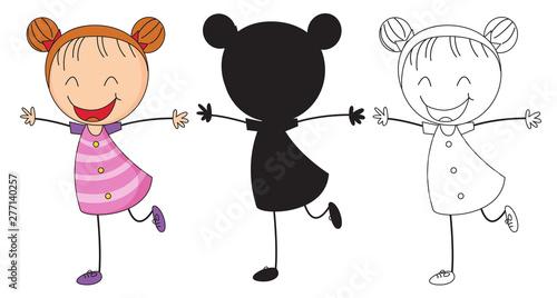 Poster Jeunes enfants Set chappy girl character