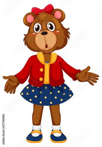 Poster Jeunes enfants A cute bear character