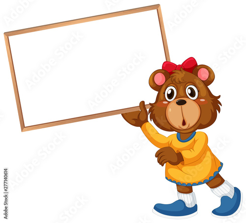 Poster Jeunes enfants Cute bear on note template