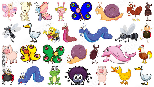 Poster Kids Set of animal character