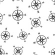 Global navigation icon seamless pattern background. Compass gps vector illustration on white isolated background. Location discovery business concept.
