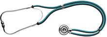 The Stethoscope On White Background. Vector Illustration