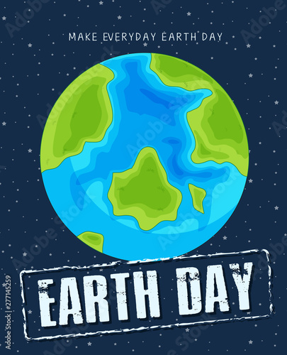 In de dag Kids An earth day template