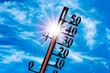 Leinwanddruck Bild - Hitze und Thermometer
