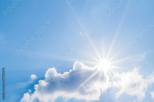 Foto auf Leinwand Bekannte Orte in Asien Blue sky with clouds and sun