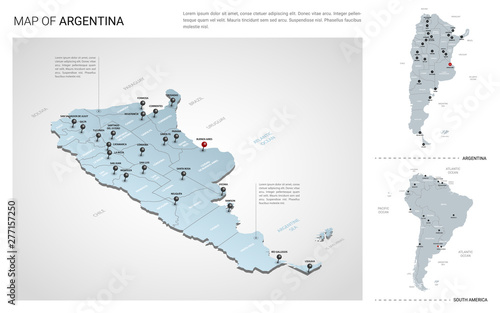 Vector set of Argentina country Tapéta, Fotótapéta