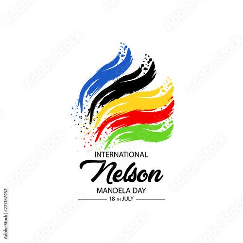 Tablou Canvas International Nelson Mandela Day, 18th of July