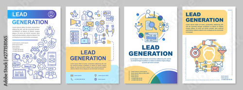 Lead generation brochure template layout  Digital marketing, SMM