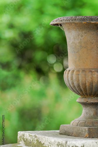 Montage in der Fensternische Darknightsky Barocker Garten mit Vase