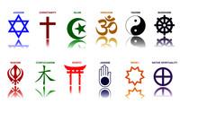 World Religion Symbols Colored...