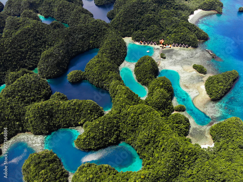 Aerial View - Sohoton Cove, Siargao - The Philippines Wallpaper Mural