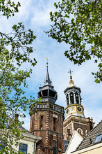 Tower Of City Hall And Gate Called Nieuwe Toren In Kampen, The Netherlands