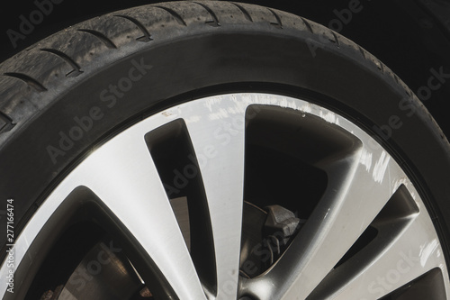 Photo Car wheel closeup