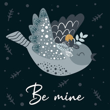 Poster Be Mine With Bird And F...