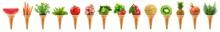 Delicious Ice Cream Cone Long Collage