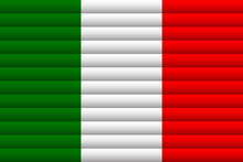 National Flag Of Italy. For Independence Day.