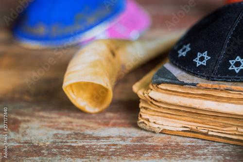 Obraz na płótnie Yom Kippur, Rosh Hashanah Hashana jewish New Year, Shemini Atzeret Shmini Atzere
