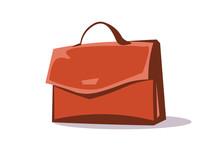 Briefcase, Portfolio Flat Vector Illustration
