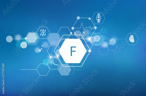 Fluorine. Scientific medical research