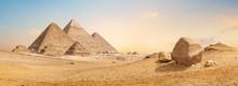 Pyramids In Desert