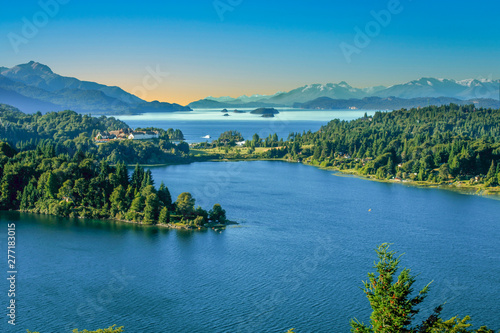Canvas Prints Countryside scenic lake district in Patagonia, spectacular landscape with Andes view
