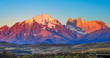 Leinwanddruck Bild - scenic view to Fitz Roy mountain in Argentina, Patagonia
