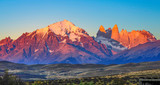 Fototapeta Coffie - scenic view to Fitz Roy mountain in Argentina, Patagonia