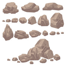 Rock Stone. Isometric Rocks An...