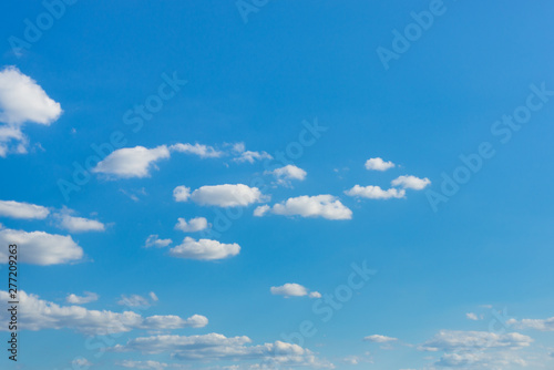 Abstract background of beautiful clear sunny sky and cloud, deep blue pastel Fototapeta