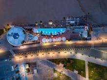 Aerial View Of Modern Restaura...