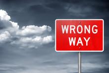 Wrong Way - Traffic Sign Infor...