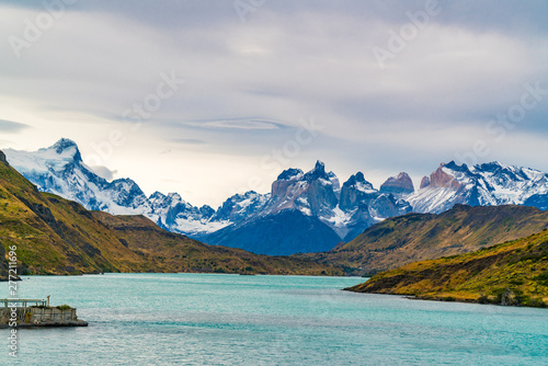 Fotografie, Tablou Scenic landscape of Torres del Paine National Park in Chile