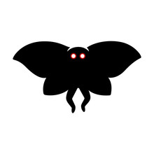 Mothman Monster Silhouette