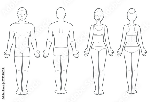 Male and female body chart Canvas