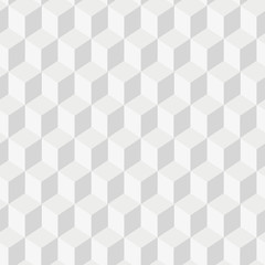 Grayscale 3d Cubes minimal, repeatable pattern simple seamless, spatial geometry, vector graphics