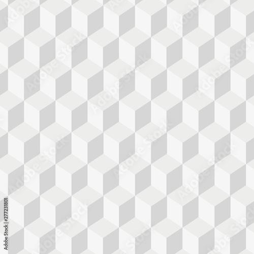 Grayscale 3d Cubes minimal, repeatable pattern simple seamless, spatial geometry Billede på lærred