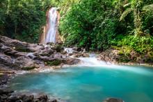 Blue Falls Of Costa Rica, Natu...