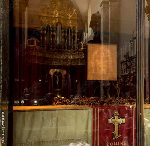 Turin, Italy, June 27, 2019: Keeping place of Christ Shroud in