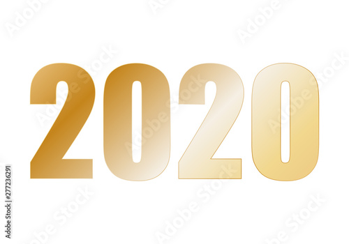 Fotografie, Tablou  Año 2020 de color dorado.