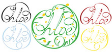Name Chloe, Made In The Vector For Use In Various Purposes, From Embroidery To Printing Business Cards.