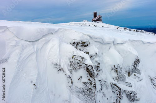 Fototapeta Śnieżne Kotły, Karkonosze zimą obraz