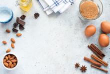 Baking Ingredients Oil Eggs Su...