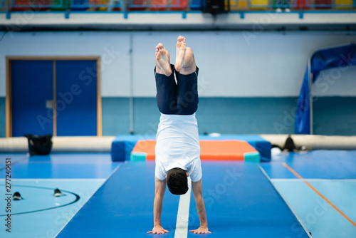gymnast in a competition