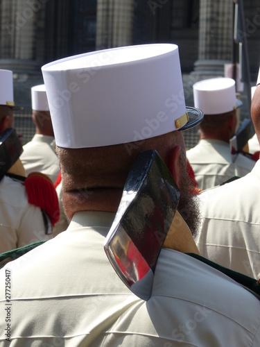 Membre de la légion étrangère lors défilé 14 juillet Canvas Print